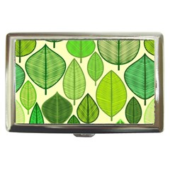 Leaves Pattern Design Cigarette Money Cases by TastefulDesigns