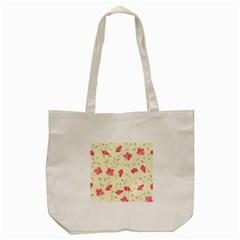 Seamless Flower Pattern Tote Bag (cream) by TastefulDesigns