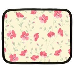 Seamless Flower Pattern Netbook Case (xl)  by TastefulDesigns
