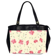 Seamless Flower Pattern Office Handbags (2 Sides)  by TastefulDesigns
