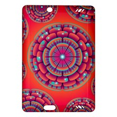 Pretty Floral Geometric Pattern Amazon Kindle Fire Hd (2013) Hardshell Case by LovelyDesigns4U