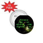 Never give up button nice - 1.75  Button (10 pack)