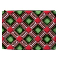 Gem Texture A Completely Seamless Tile Able Background Design Cosmetic Bag (xxl)  by Nexatart