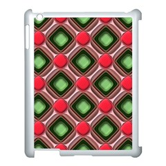 Gem Texture A Completely Seamless Tile Able Background Design Apple Ipad 3/4 Case (white) by Nexatart