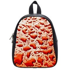 Water Drops Background School Bags (small)  by Nexatart