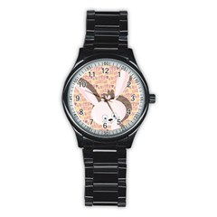 Easter Bunny  Stainless Steel Round Watch by Valentinaart