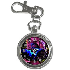 Abstract Artwork Of A Old Truck Key Chain Watches by Nexatart