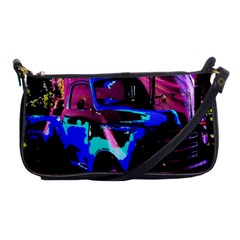 Abstract Artwork Of A Old Truck Shoulder Clutch Bags by Nexatart