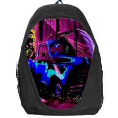 Abstract Artwork Of A Old Truck Backpack Bag by Nexatart