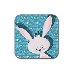 Easter Bunny  Rubber Coaster (square)  by Valentinaart