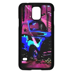 Abstract Artwork Of A Old Truck Samsung Galaxy S5 Case (black) by Nexatart