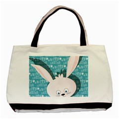 Easter Bunny  Basic Tote Bag (two Sides) by Valentinaart