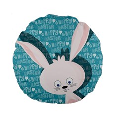 Easter Bunny  Standard 15  Premium Flano Round Cushions by Valentinaart