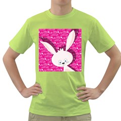Easter Bunny  Green T Shirt by Valentinaart