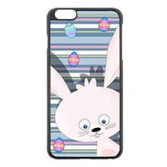 Easter Bunny  Apple Iphone 6 Plus/6s Plus Black Enamel Case by Valentinaart