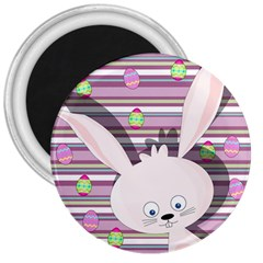 Easter Bunny  3  Magnets by Valentinaart