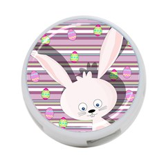 Easter Bunny  4 Port Usb Hub (two Sides)  by Valentinaart