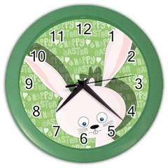 Easter Bunny  Color Wall Clocks by Valentinaart