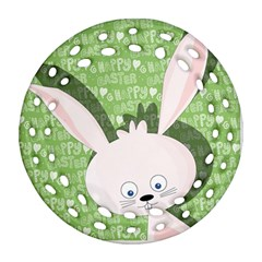 Easter Bunny  Round Filigree Ornament (two Sides) by Valentinaart