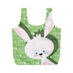Easter bunny  Full Print Recycle Bags (M)  by Valentinaart