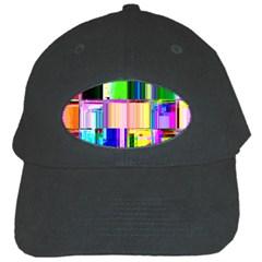 Glitch Art Abstract Black Cap by Nexatart