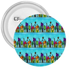 Colourful Street A Completely Seamless Tile Able Design 3  Buttons by Nexatart