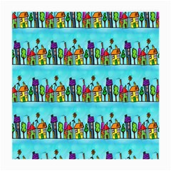 Colourful Street A Completely Seamless Tile Able Design Medium Glasses Cloth (2-Side)