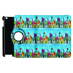 Colourful Street A Completely Seamless Tile Able Design Apple Ipad 3/4 Flip 360 Case by Nexatart