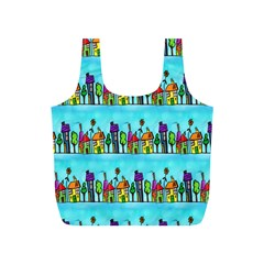 Colourful Street A Completely Seamless Tile Able Design Full Print Recycle Bags (s)  by Nexatart