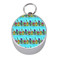 Colourful Street A Completely Seamless Tile Able Design Mini Silver Compasses by Nexatart