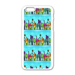 Colourful Street A Completely Seamless Tile Able Design Apple Iphone 6/6s White Enamel Case by Nexatart