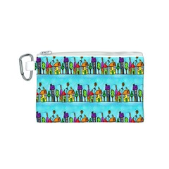 Colourful Street A Completely Seamless Tile Able Design Canvas Cosmetic Bag (s) by Nexatart