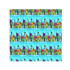 Colourful Street A Completely Seamless Tile Able Design Small Satin Scarf (square) by Nexatart