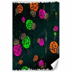 Cartoon Grunge Beetle Wallpaper Background Canvas 20  X 30   by Nexatart