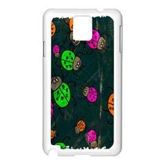 Cartoon Grunge Beetle Wallpaper Background Samsung Galaxy Note 3 N9005 Case (white) by Nexatart