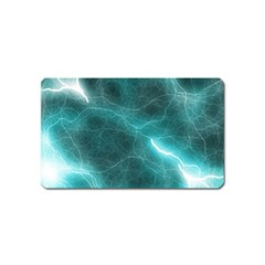 Light Web Colorful Web Of Crazy Lightening Magnet (name Card) by Nexatart