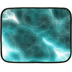 Light Web Colorful Web Of Crazy Lightening Double Sided Fleece Blanket (mini)  by Nexatart