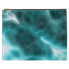 Light Web Colorful Web Of Crazy Lightening Cosmetic Bag (xxxl)  by Nexatart