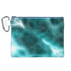 Light Web Colorful Web Of Crazy Lightening Canvas Cosmetic Bag (xl) by Nexatart