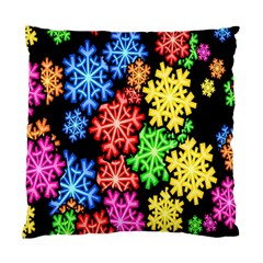 Colourful Snowflake Wallpaper Pattern Standard Cushion Case (two Sides) by Nexatart