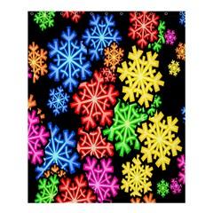 Colourful Snowflake Wallpaper Pattern Shower Curtain 60  X 72  (medium)  by Nexatart