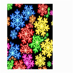 Colourful Snowflake Wallpaper Pattern Small Garden Flag (two Sides) by Nexatart