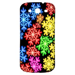Colourful Snowflake Wallpaper Pattern Samsung Galaxy S3 S Iii Classic Hardshell Back Case by Nexatart