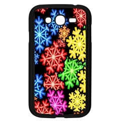 Colourful Snowflake Wallpaper Pattern Samsung Galaxy Grand Duos I9082 Case (black) by Nexatart
