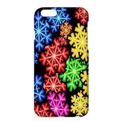 Colourful Snowflake Wallpaper Pattern Apple Iphone 6 Plus/6s Plus Hardshell Case by Nexatart