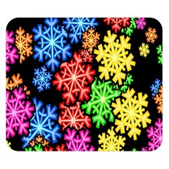Colourful Snowflake Wallpaper Pattern Double Sided Flano Blanket (small)  by Nexatart