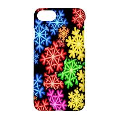Colourful Snowflake Wallpaper Pattern Apple Iphone 7 Hardshell Case by Nexatart