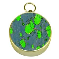 Cartoon Grunge Frog Wallpaper Background Gold Compasses by Nexatart