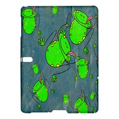 Cartoon Grunge Frog Wallpaper Background Samsung Galaxy Tab S (10 5 ) Hardshell Case  by Nexatart