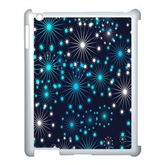 Digitally Created Snowflake Pattern Background Apple Ipad 3/4 Case (white) by Nexatart